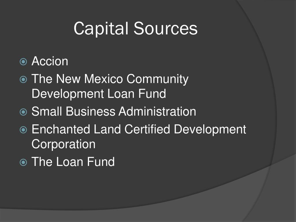 Capital Sources