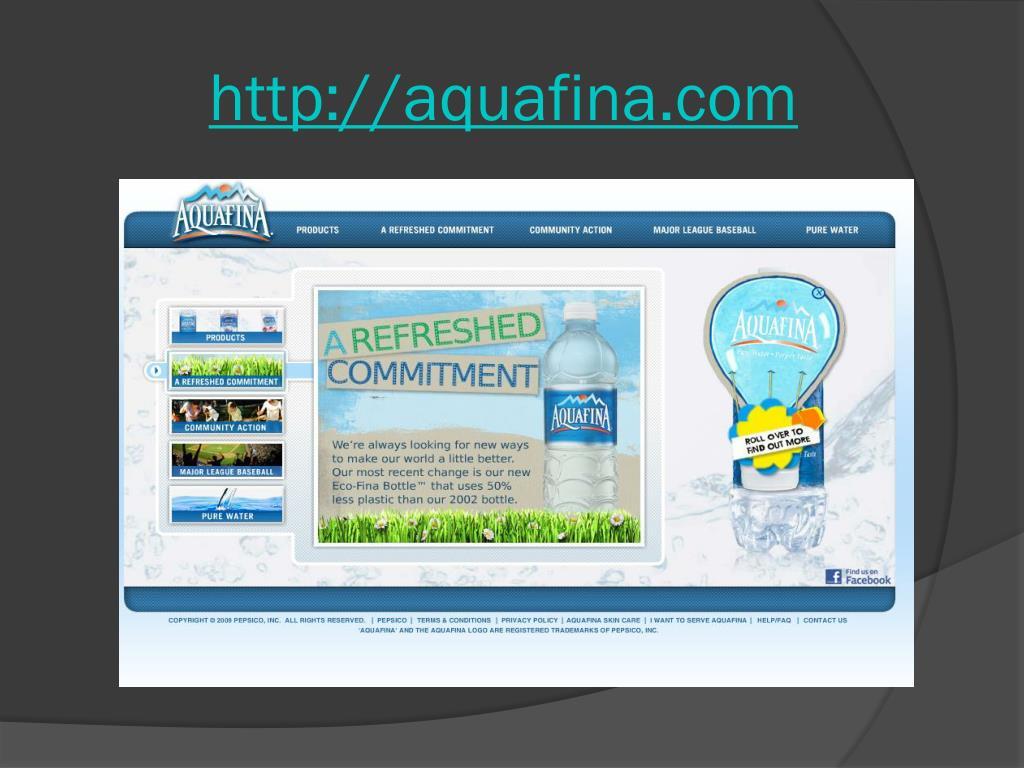 http://aquafina.com