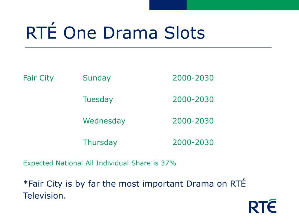RTÉ One Drama Slots