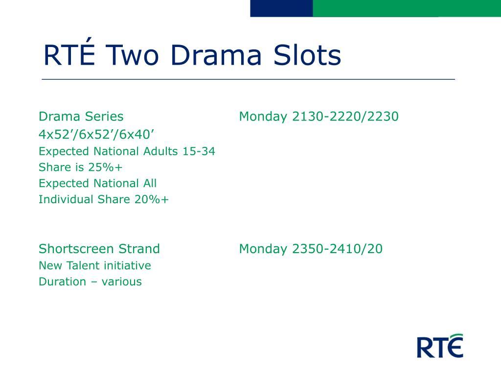 RTÉ Two Drama Slots