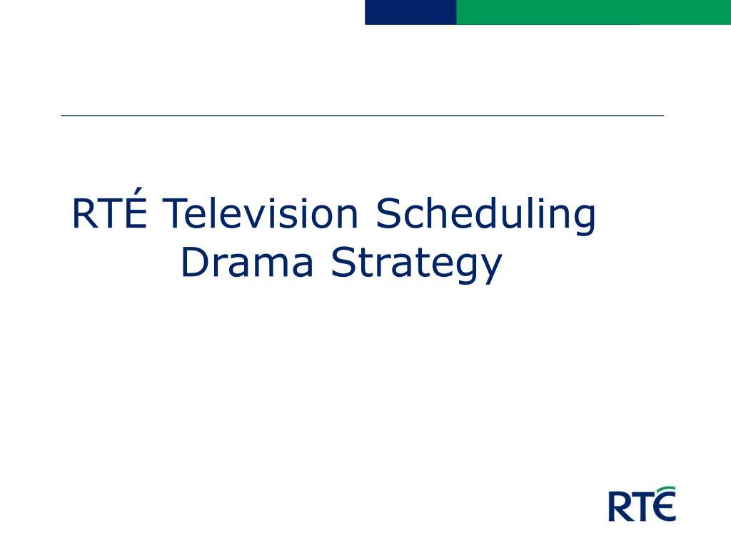 RTÉ Television Scheduling