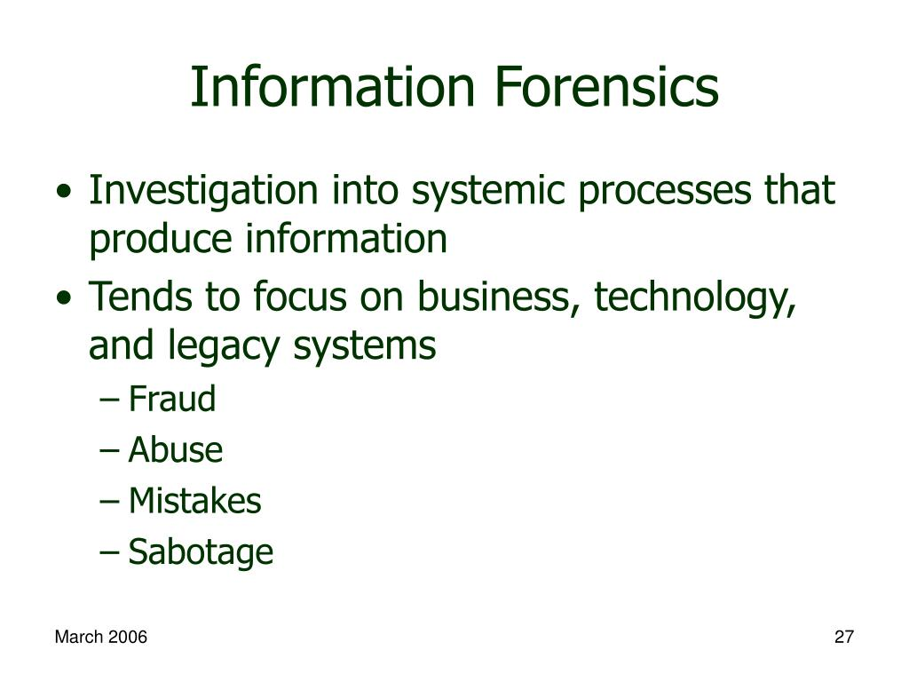 Information Forensics