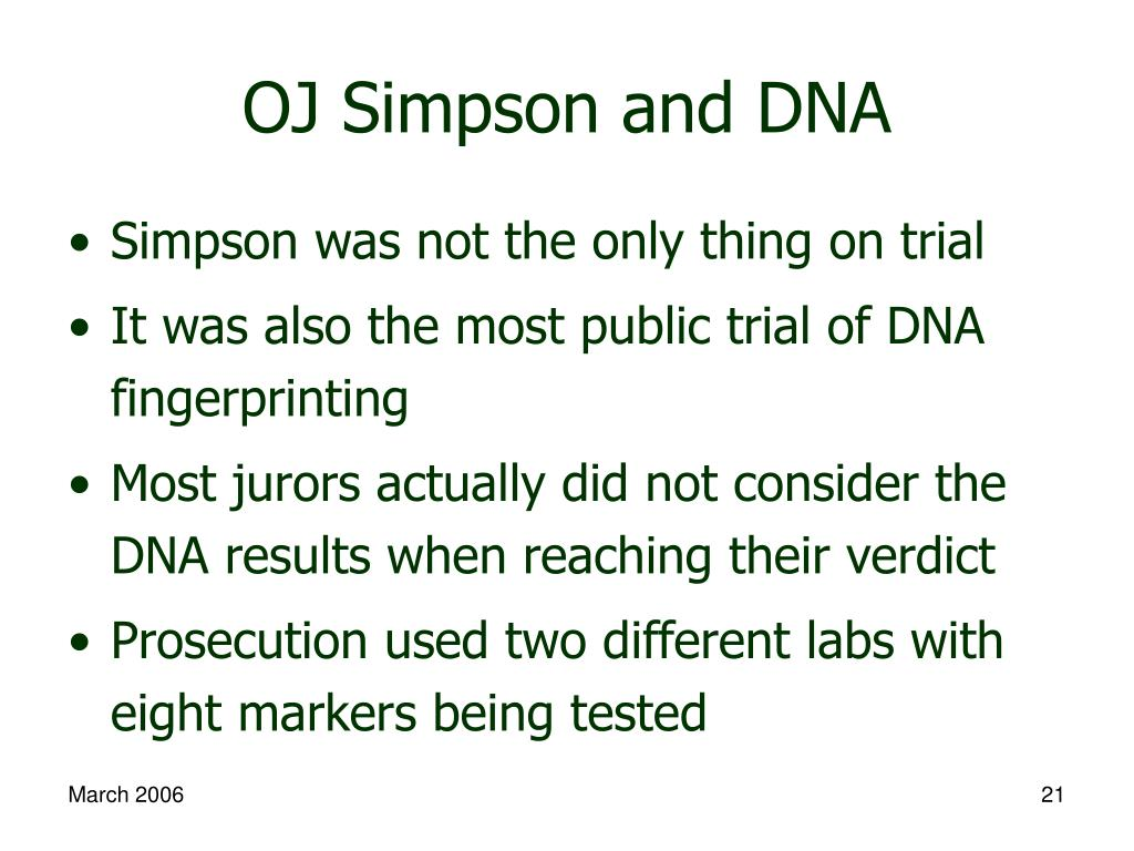 OJ Simpson and DNA
