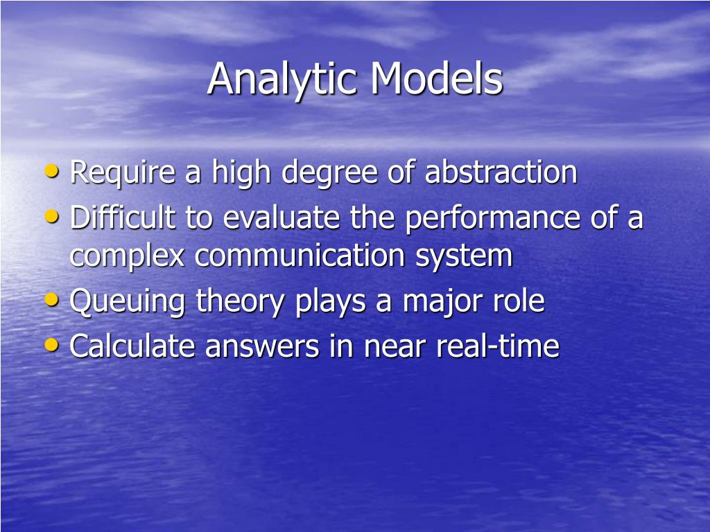 Analytic Models
