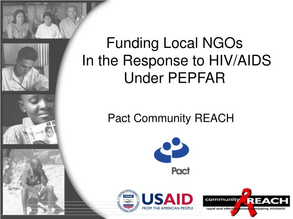 Funding Local NGOs