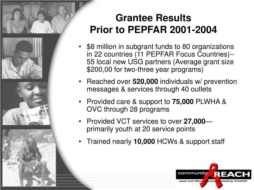 Grantee Results