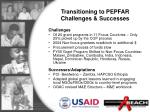 transitioning to pepfar challenges successes