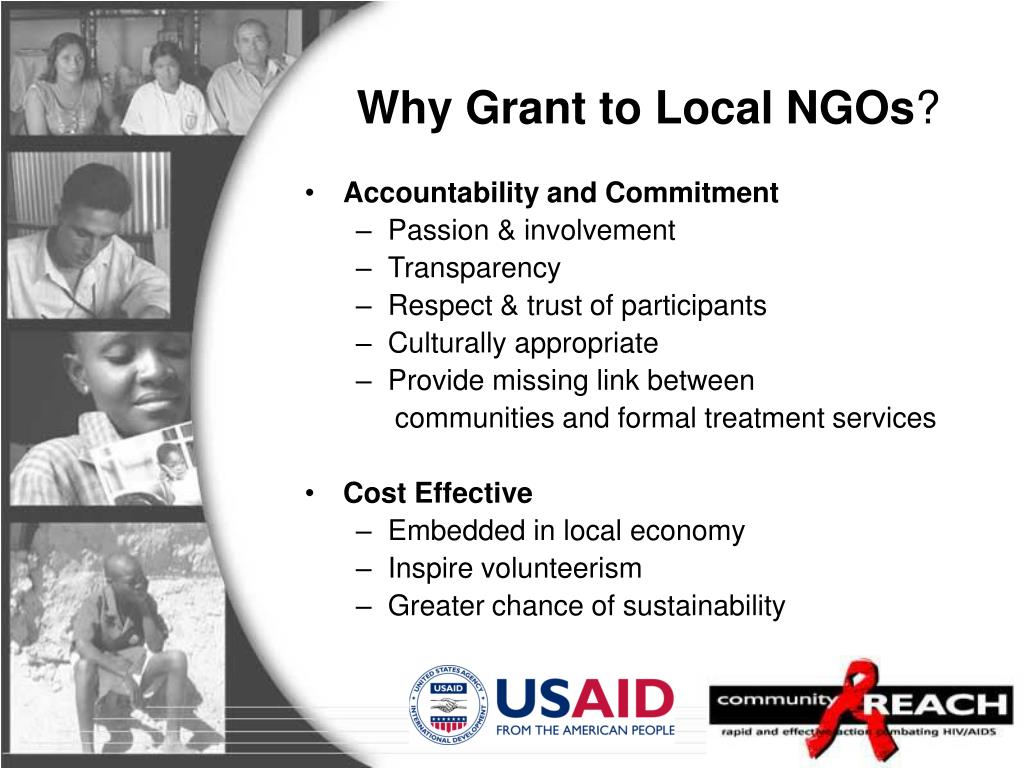 Why Grant to Local NGOs