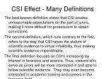 csi effect many definitions