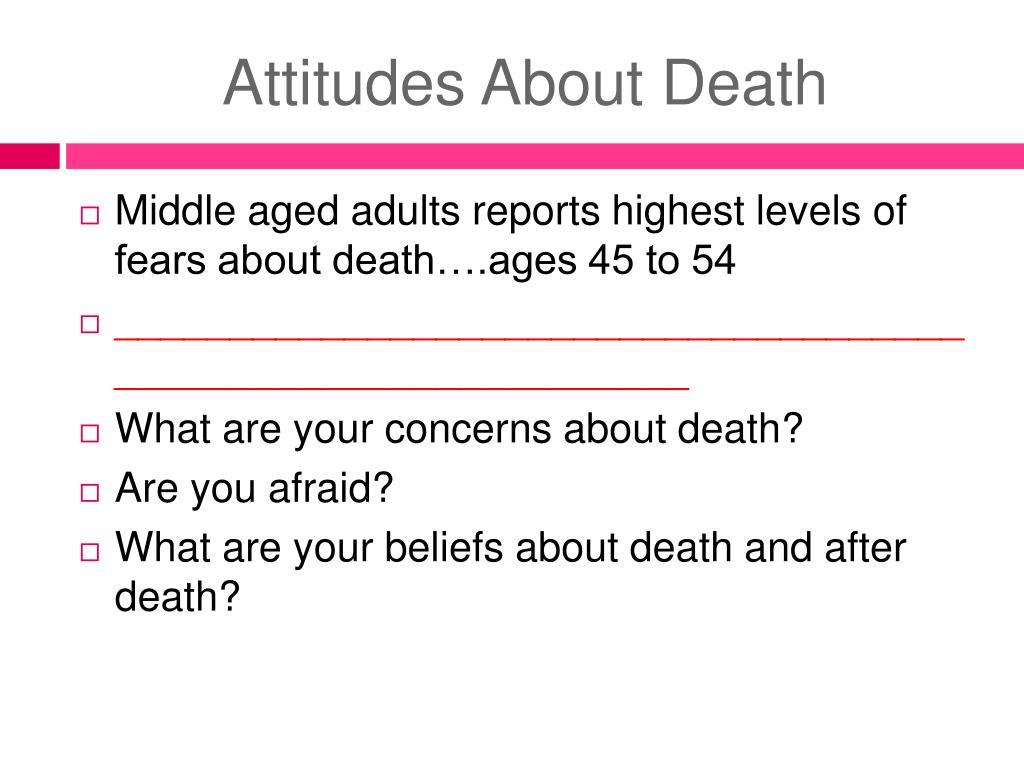 Attitudes About Death