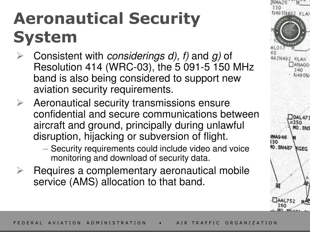 Aeronautical Security System