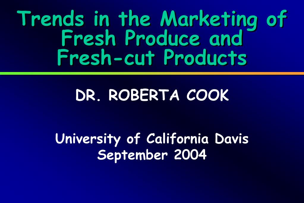Trends in the Marketing of