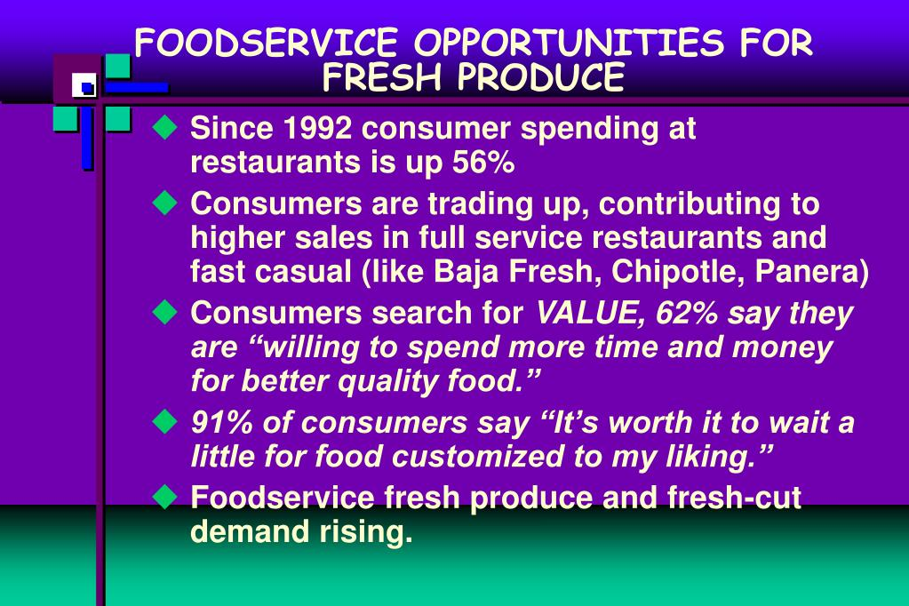 FOODSERVICE OPPORTUNITIES FOR FRESH PRODUCE