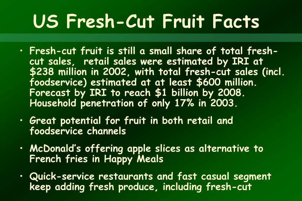 US Fresh-Cut Fruit Facts