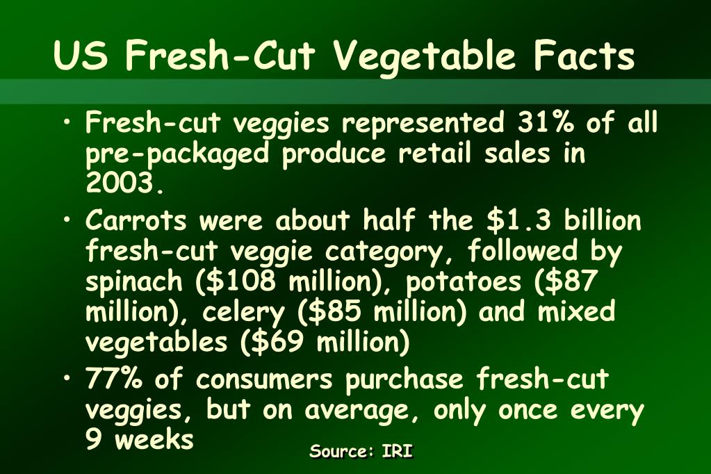 US Fresh-Cut Vegetable Facts