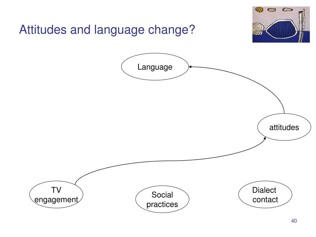 Attitudes and language change?