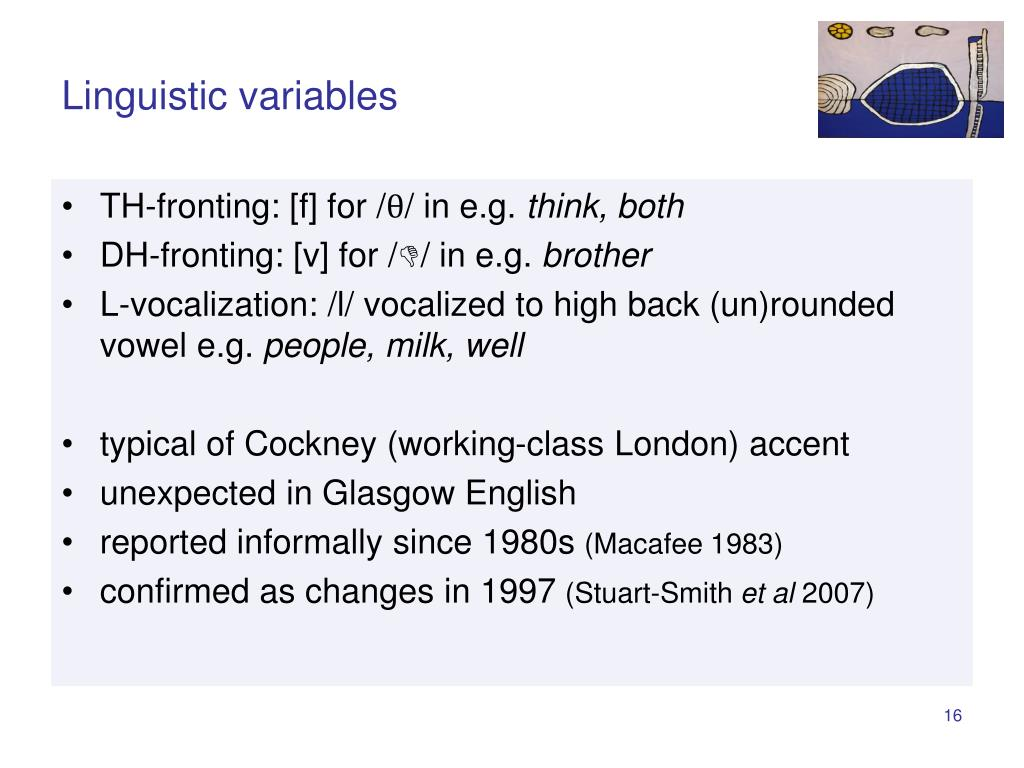 Linguistic variables
