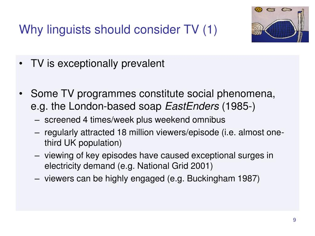 Why linguists should consider TV (1)
