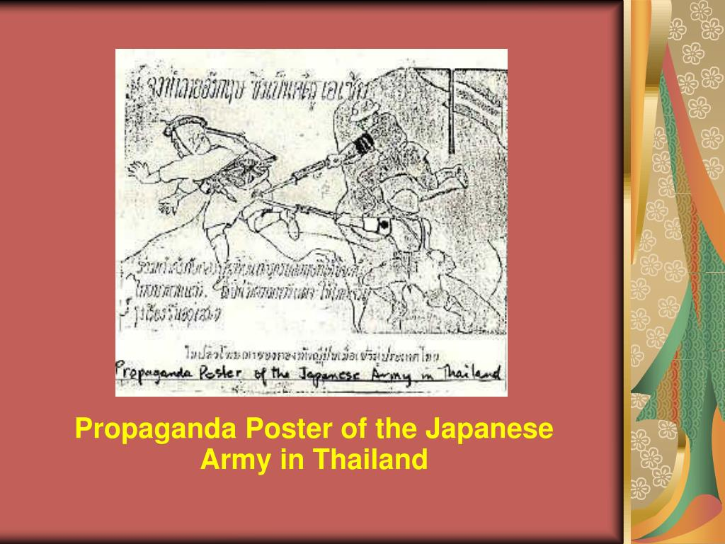 Propaganda Poster of the Japanese Army in Thailand