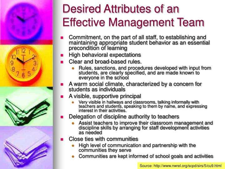 Desired Attributes of an Effective Management Team