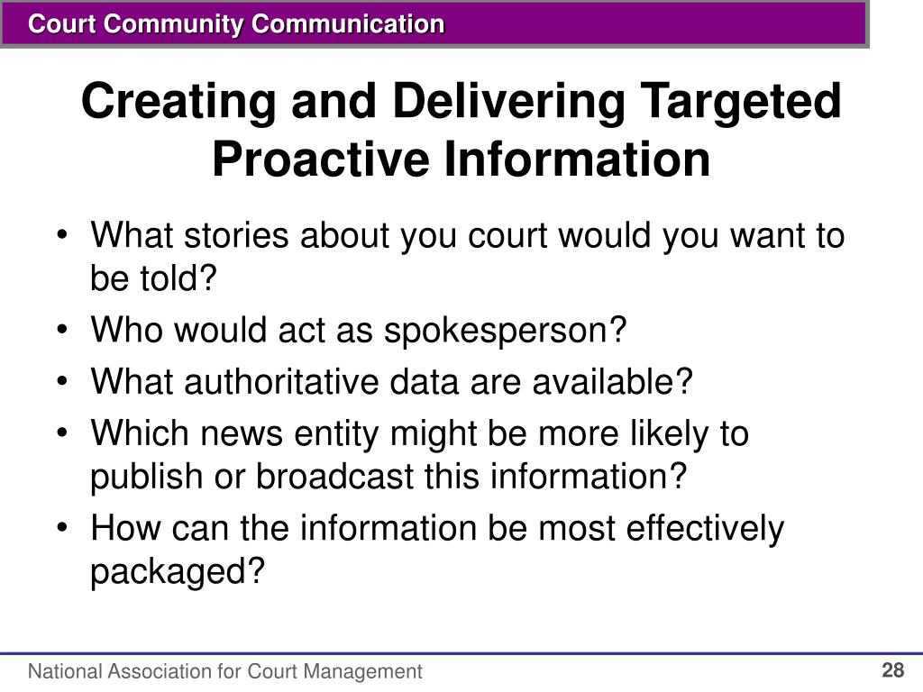 Creating and Delivering Targeted Proactive Information