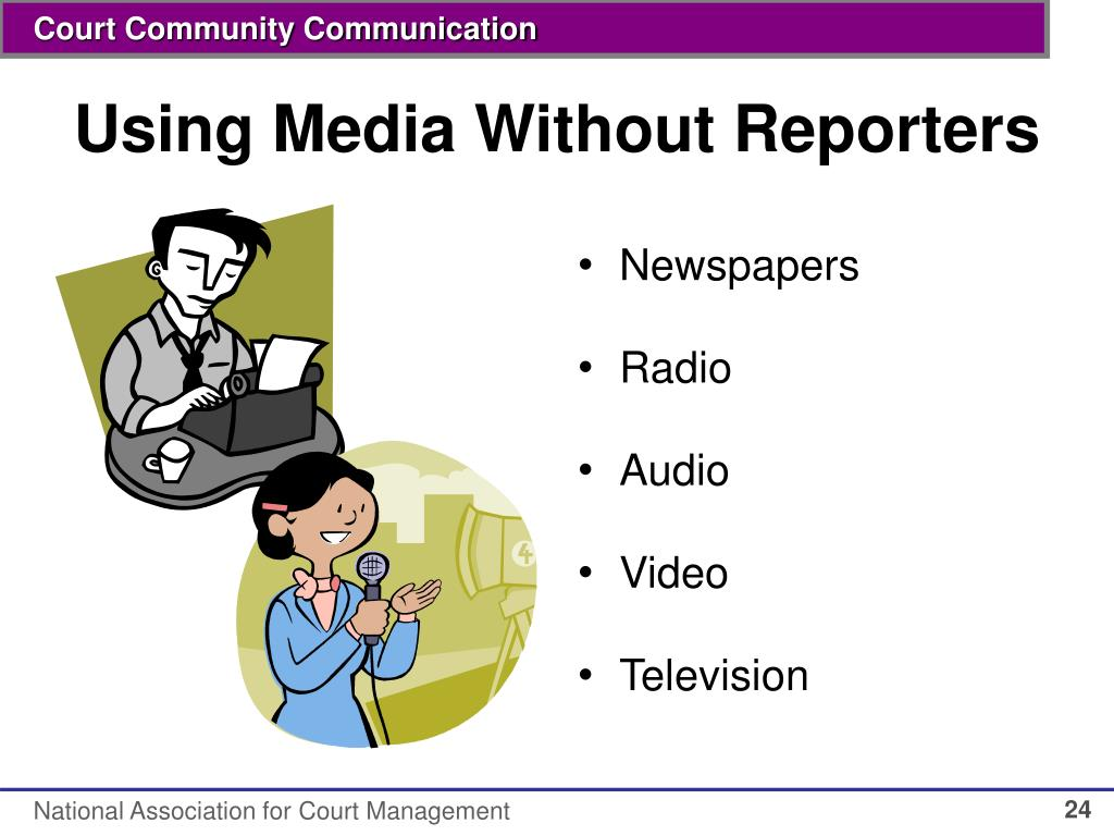 Using Media Without Reporters