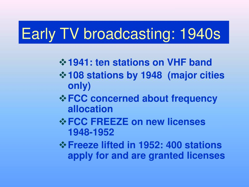 Early TV broadcasting: 1940s