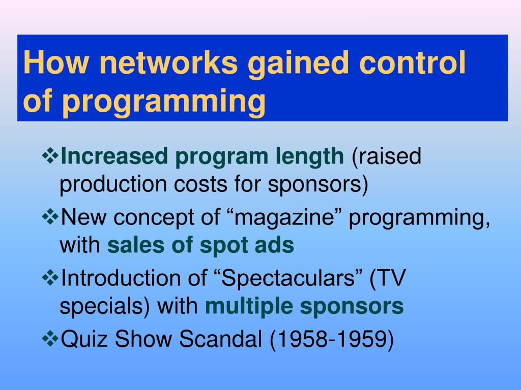 How networks gained control
