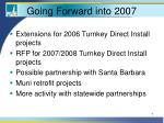 going forward into 2007