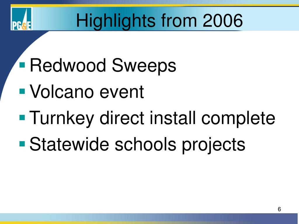 Highlights from 2006