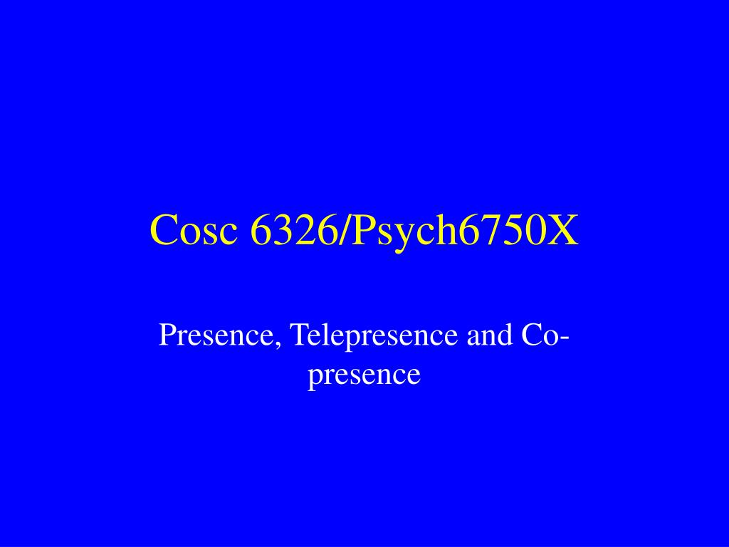 Cosc 6326/Psych6750X