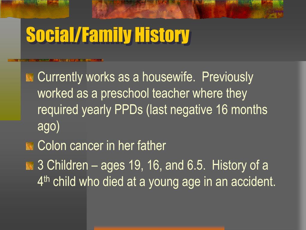 Social/Family History