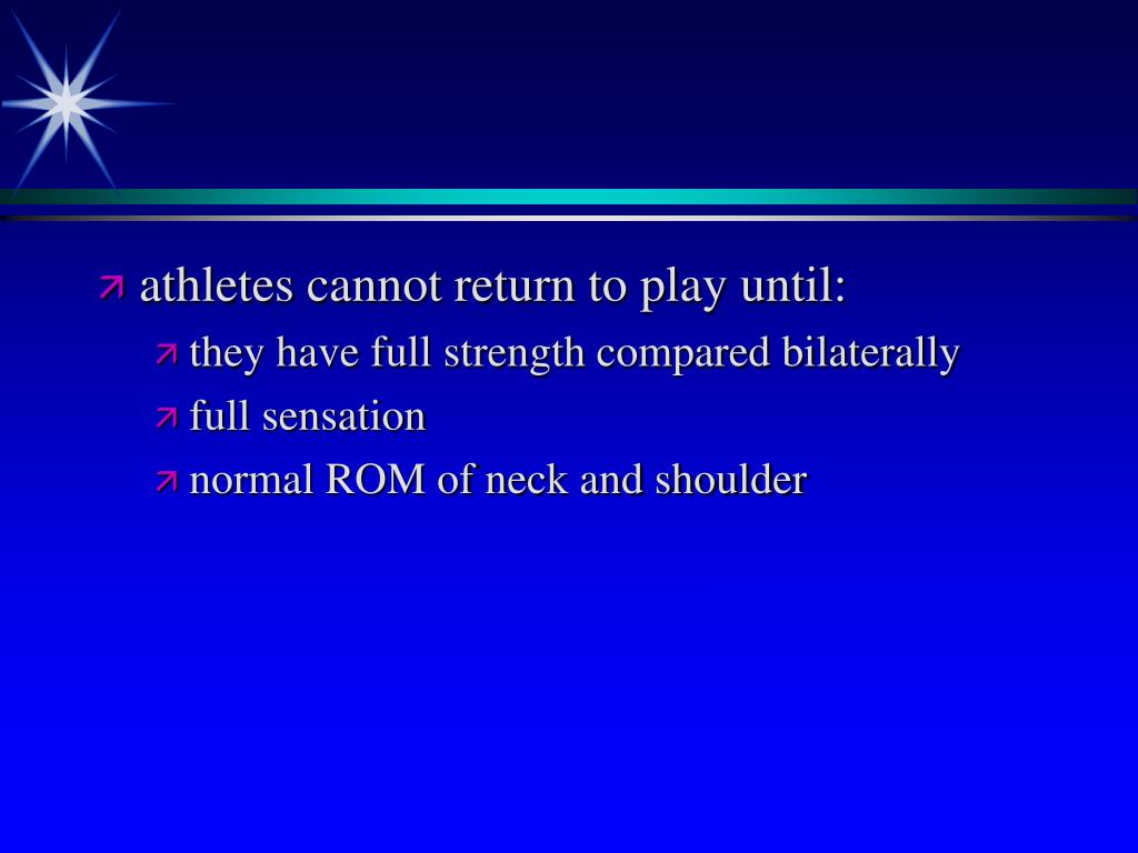 athletes cannot return to play until: