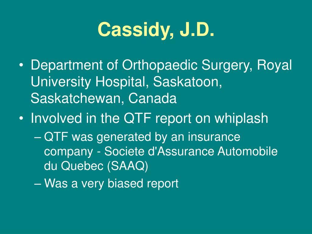 Cassidy, J.D.