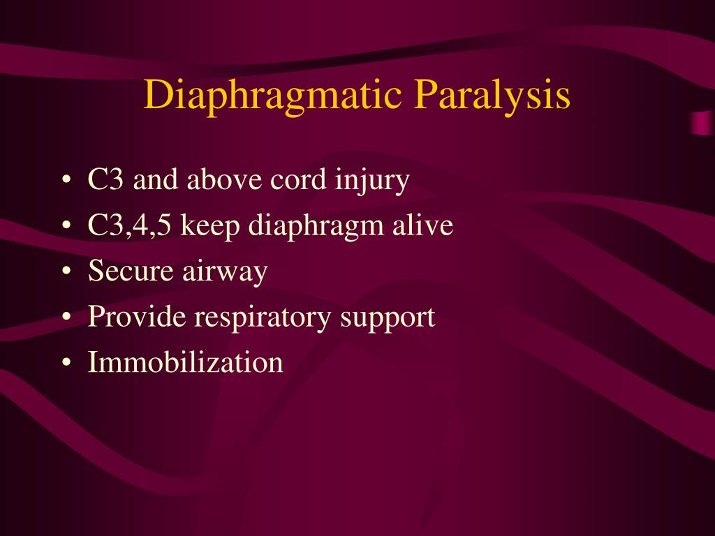 Diaphragmatic Paralysis