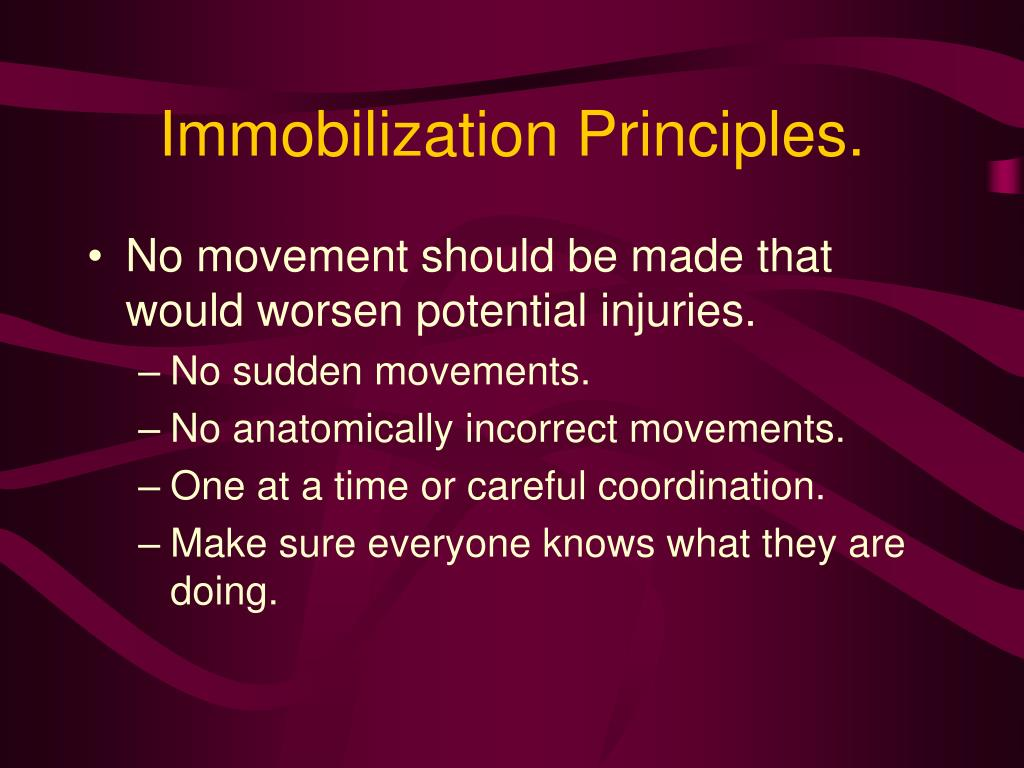 Immobilization Principles.