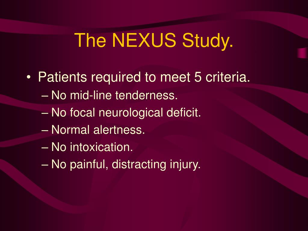 The NEXUS Study.