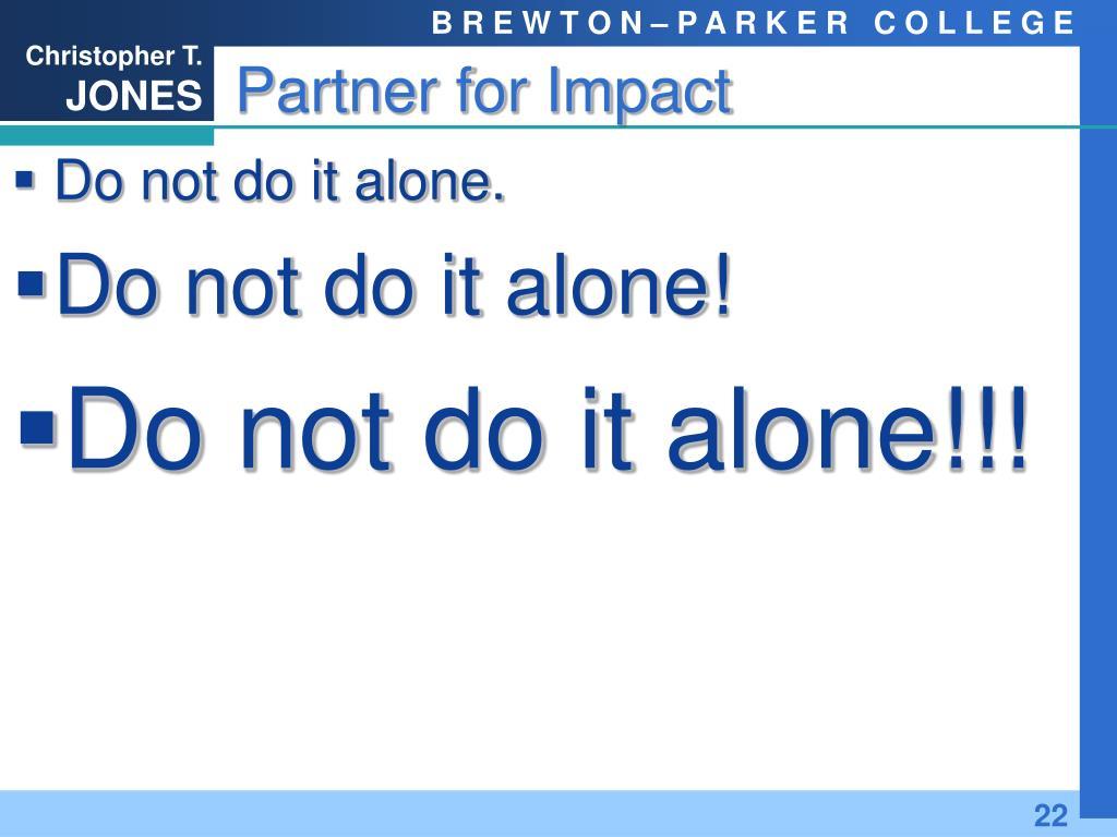 Partner for Impact