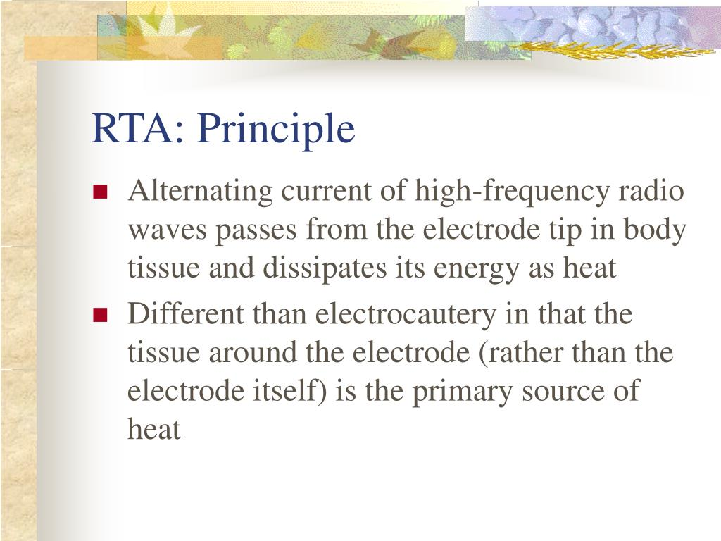 RTA: Principle