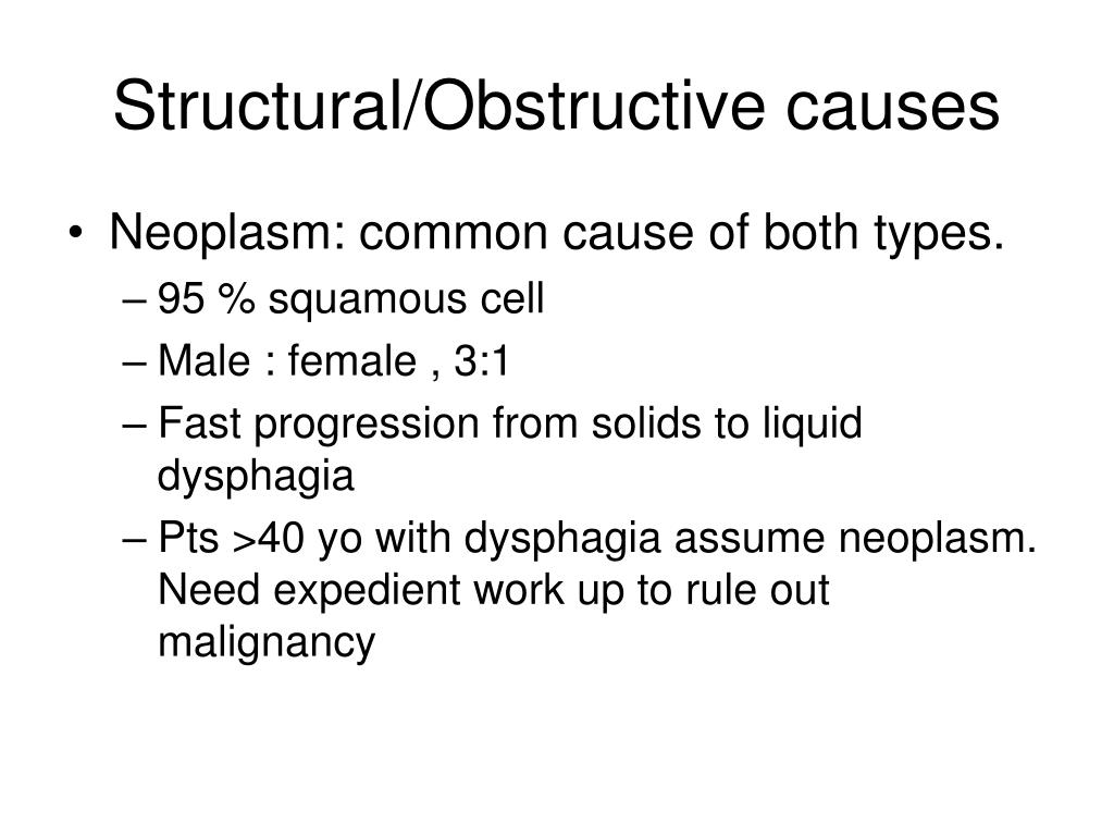Structural/Obstructive causes