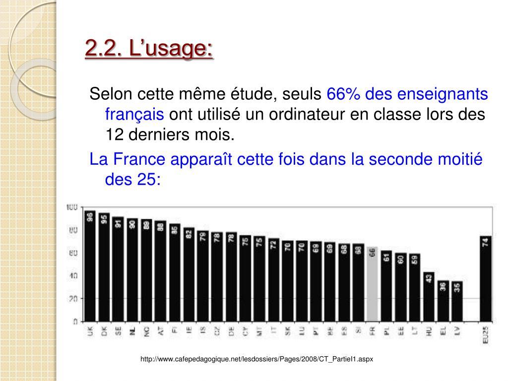 2.2. L'usage: