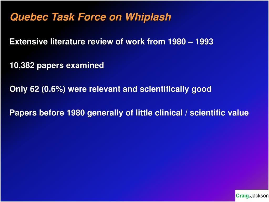 Quebec Task Force on Whiplash