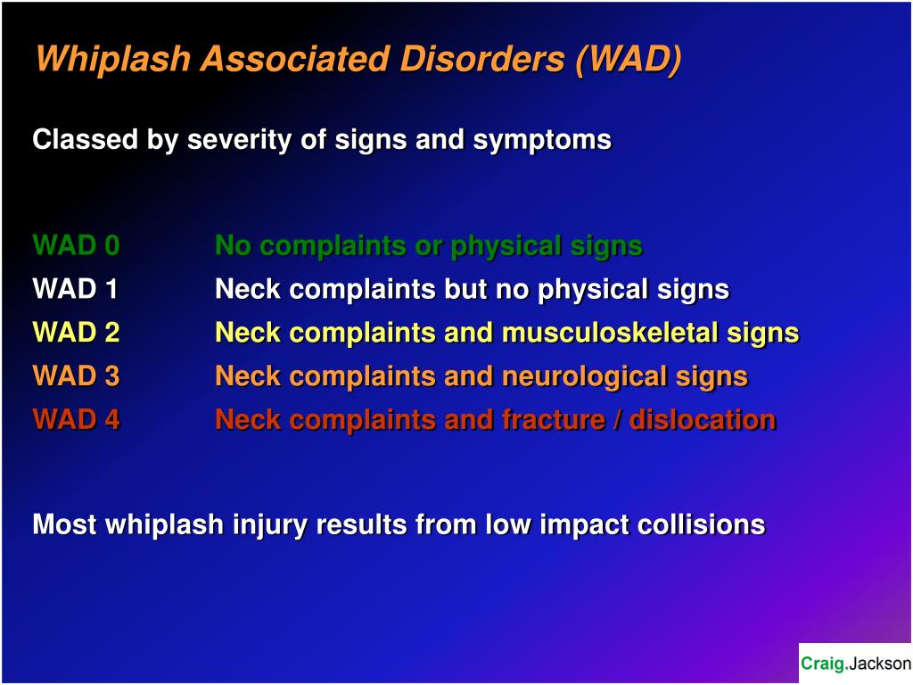 Whiplash Associated Disorders (WAD)