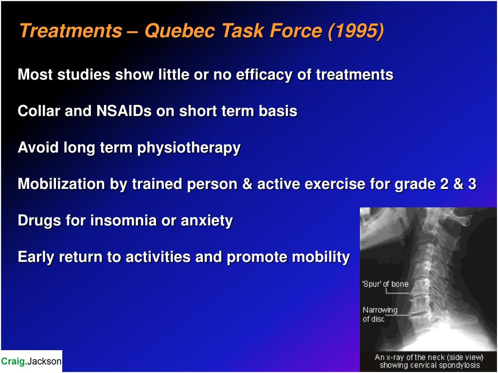 Treatments – Quebec Task Force (1995)