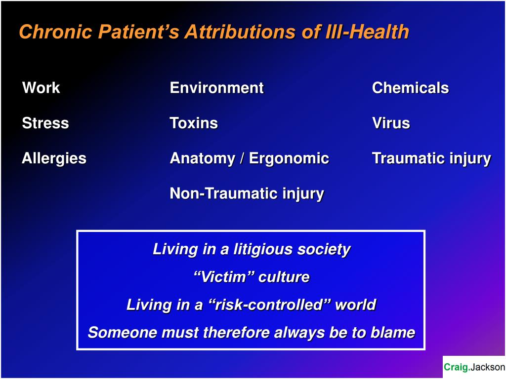 Chronic Patient's Attributions of Ill-Health