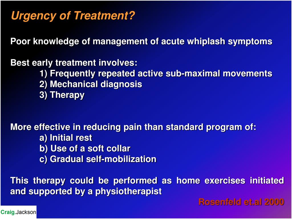 Urgency of Treatment?