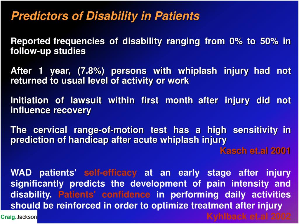Predictors of Disability in Patients