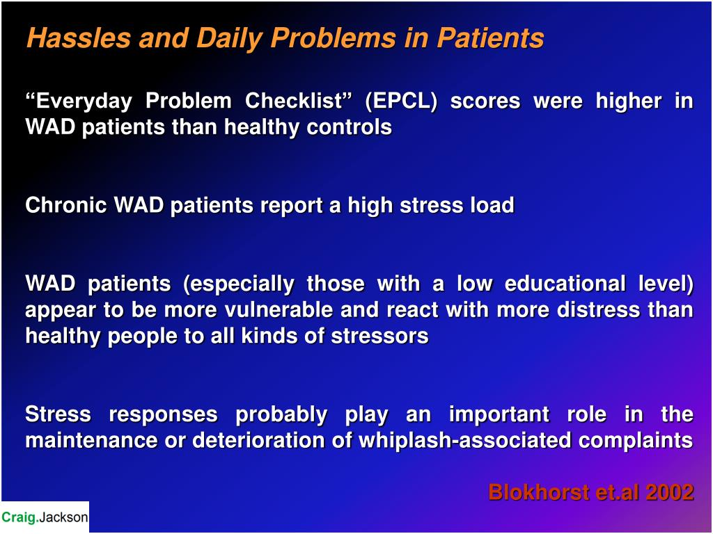 Hassles and Daily Problems in Patients