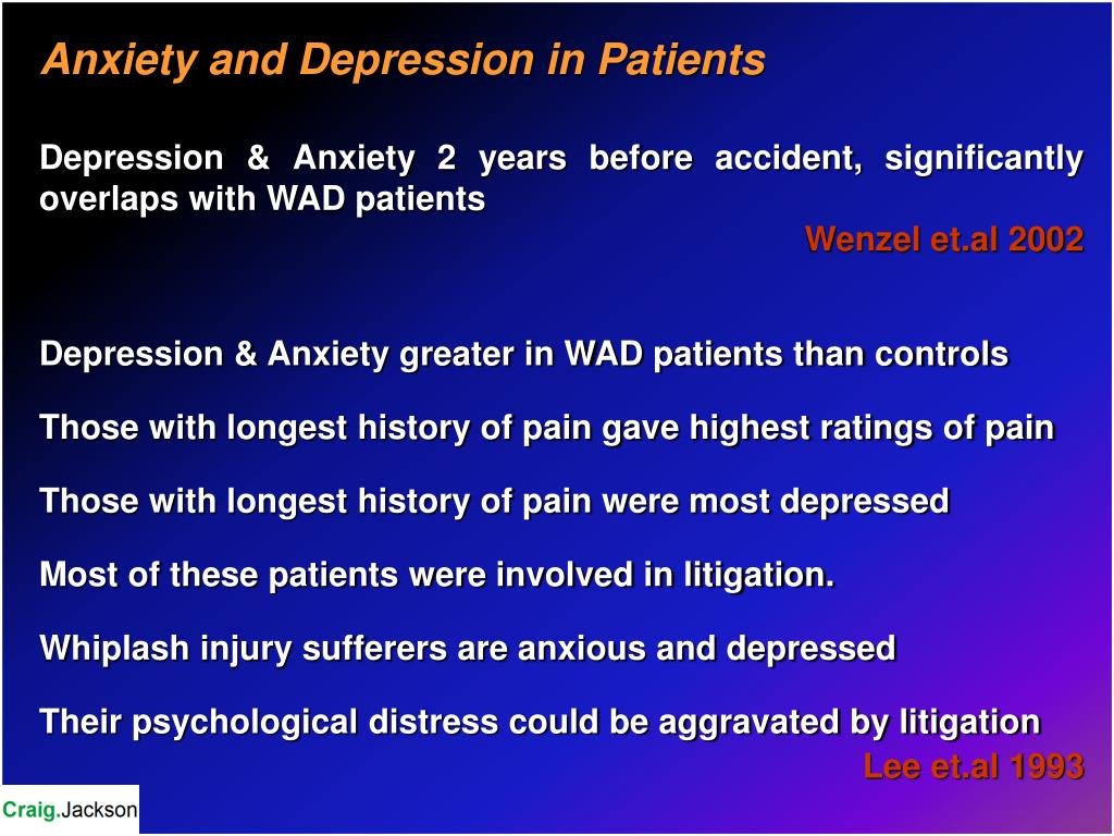 Anxiety and Depression in Patients