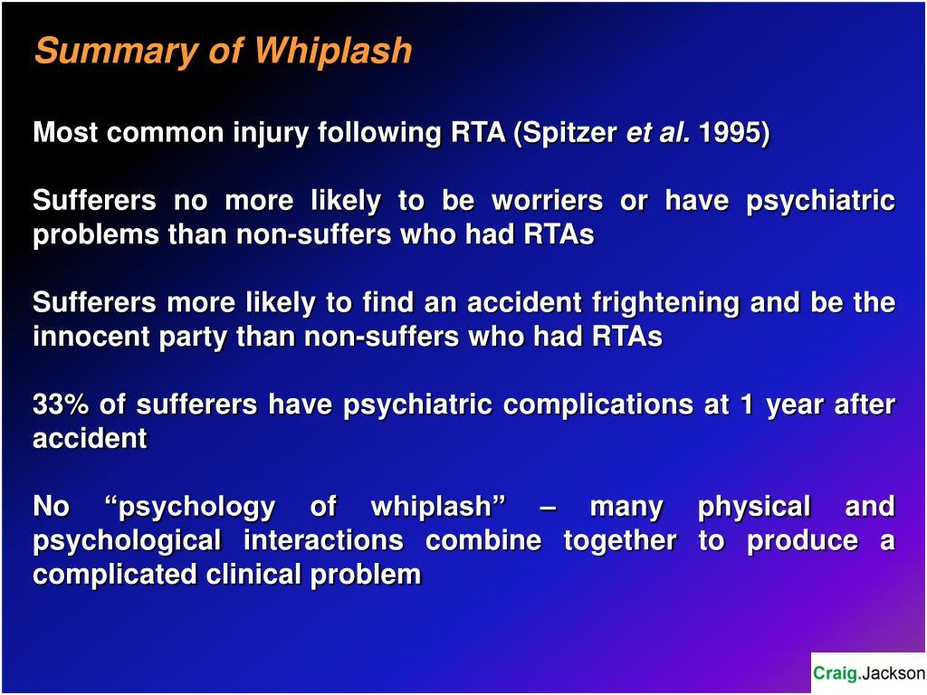 Summary of Whiplash